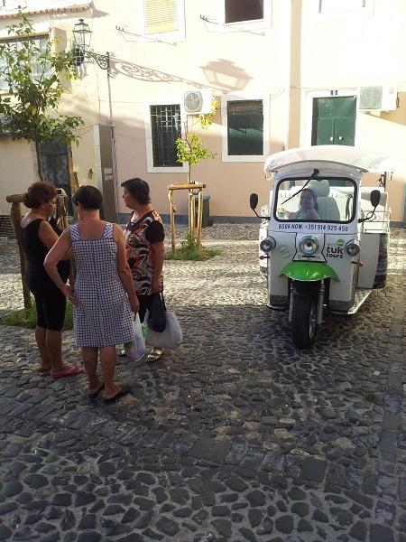 Tuk Tuk Lisbon Eco Tuk Tours Mouraria Largo Maria da Severa Sept 14