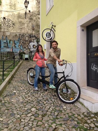 Bike a Wish store Lisbon Mouraria Ana e Rui tandem