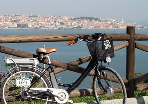 Lisbon BikeaWish e-bike beautiful view old town Lisbon