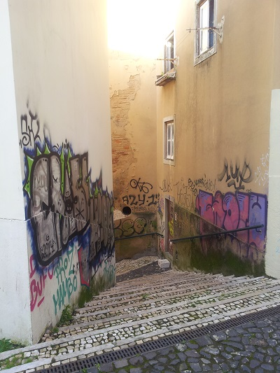 Lisbon Mouraria maze of narrow streets 2015