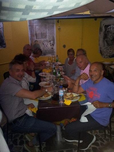 Lisbon restaurant Cantinho do Aziz 2 juli 2016 birhtday dinner