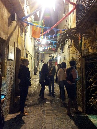 Lisbon Mouraria tiny tavern Os Amigos da Severa street tourists