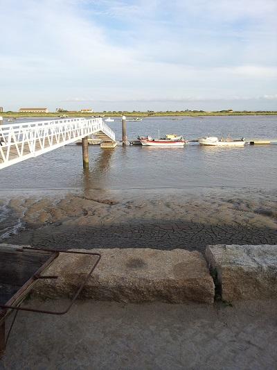 Sun House near Lisbon fishermen boats Tagus river