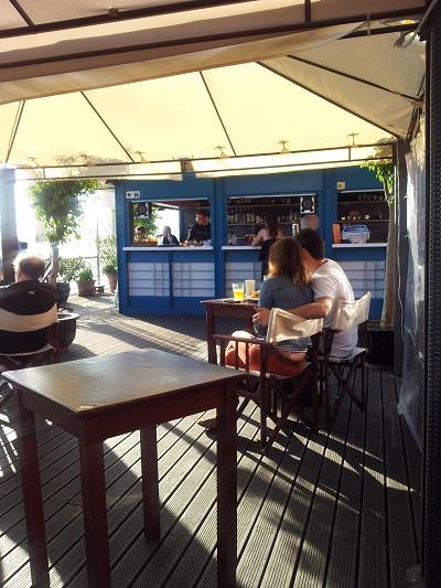 Lisbon terrace restaurant Cariocas de Rio near Tagus river 4