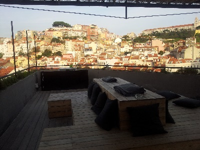 Lisbon O TOPO rooftop bar restaurant square Martim Moniz open air bar