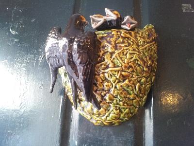Lisbon Armazem Caldas Feira da Ladra famous ceramics swallow
