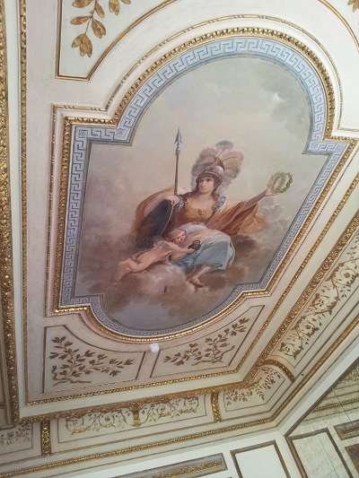 Lisbon beautiful Chiado Palace April 2016 fresco ceiling2