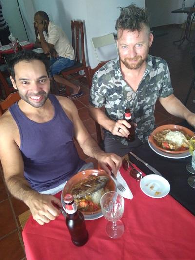 Restaurant Cantinho da Fabi Mouraria Lisbon Felipe and Rob August 16