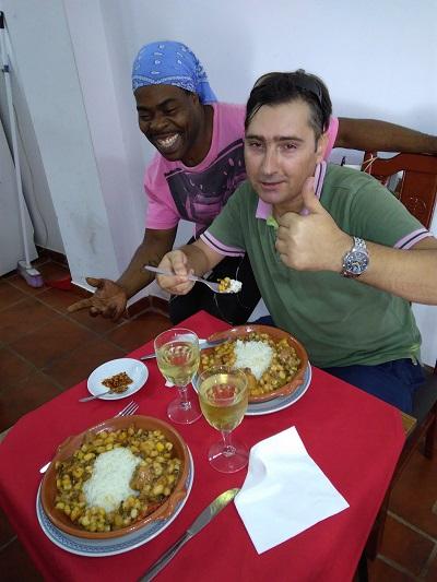 Restaurant Cantinho da Fabi Mouraria Lisbon owner Steve and Pedro Rita august 16